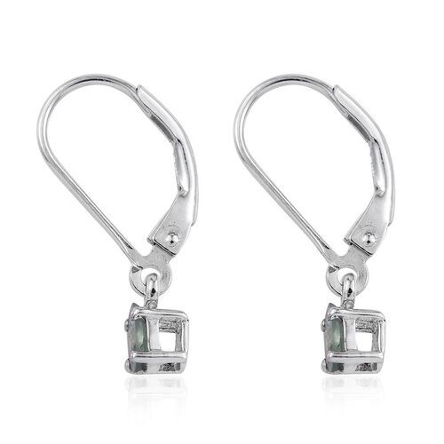 Narsipatnam Alexandrite (Ovl) Lever Back Earrings in Platinum Overlay Sterling Silver 0.500 Ct.