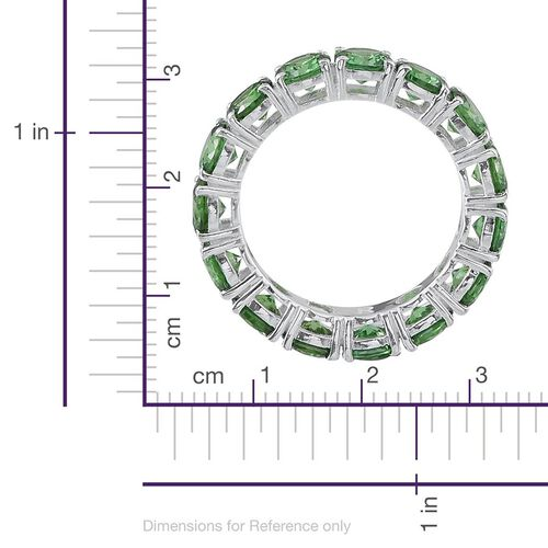 ELANZA AAA Simulated Peridot (Rnd) Full Eternity Ring in Sterling Silver