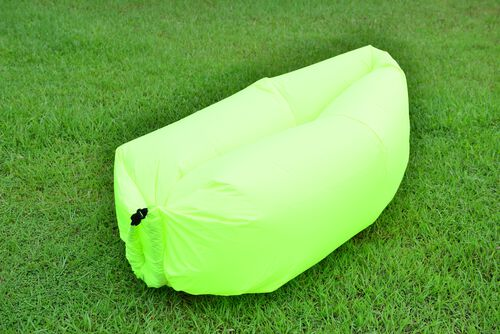Flourescent Green Colour Self Inflating Air Lounger with Carry Pouch