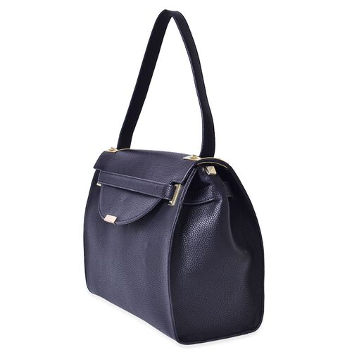Black Colour Crossbody Bag With Shoulder Strap (Size 30x13x26 cm)