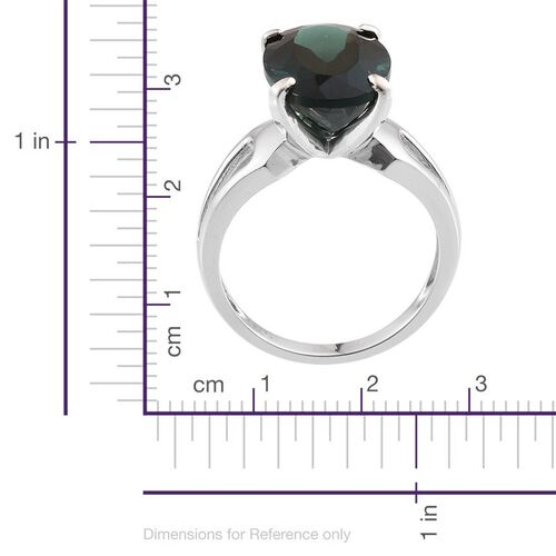 9K W Gold Ocean Blue Apatite (Ovl) Solitaire Ring 6.500 Ct.