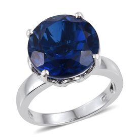 Ceylon Colour Quartz (Rnd) Solitaire Ring in Platinum Overlay Sterling Silver 9.500 Ct.