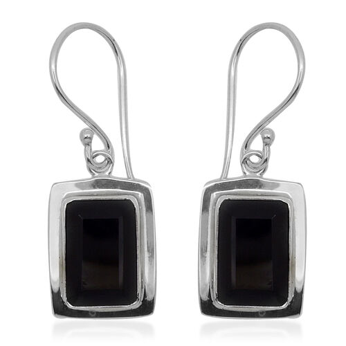 Royal Bali Collection Boi Ploi Black Spinel (Oct) Hook Earrings in Sterling Silver 11.750 Ct.