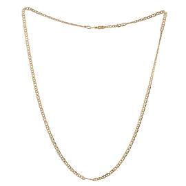 Close Out Deal 14K Gold Overlay Sterling Silver Mariner Chain (Size 18), Silver wt 3.90 Gms.