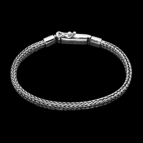 Royal Bali Collection Sterling Silver Tulang Naga Bracelet (Size 8), Silver wt 22.70 Gms.