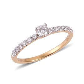 ILIANA 18K Y Gold IGI Certified Diamond (Rnd) (F-H/ SI) Ring 0.500 Ct.
