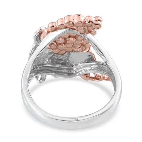 Stefy Pink Sapphire (Rnd) Ring in Rose Gold and Platinum Overlay Sterling Silver