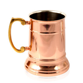Home Decor - Tankard Mug in Rose Gold Tone