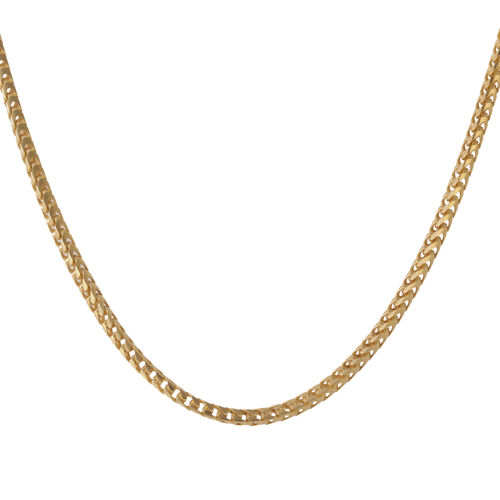 Vicenza Collection 14K Gold Overlay Sterling Silver Franco Chain (Size 24), Silver wt 40.56 Gms.