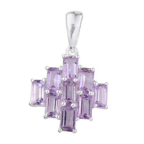 Rose De France Amethyst (Oct) Pendant in Sterling Silver 2.250 Ct.