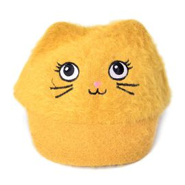 Yellow Colour Cat Face Child Cap (Size 25 Cm)