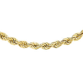 JCK Vegas Collection 9K Yellow Gold Hollow Rope Chain Size 20 Inch, 7.90 Gms.
