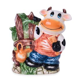 Home Decor - Ceramic Cow Tableware Containers (Size 16x13.5x6.8 Cm)