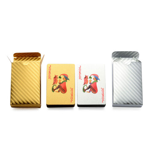 Set of 2 - Gold and Silver Colour Playing Card Sets