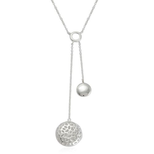 RACHEL GALLEY Sterling Silver Memento Disc Necklace (Size 18), Silver wt 6.50 Gms.