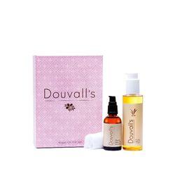 Alicia Douvall Argan Oil Gift Box, Argan Oil Moisturiser 50ml, Cleanser 150ml ,Muslin Cloth