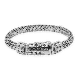 Royal Bali Collection Sterling Silver Tulang Naga Bracelet (Size 8), Silver wt 43.16 Gms.