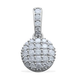 9K W Gold SGL Certified Diamond (Rnd 0.66 Ct) (I3/ G-H) Pendant 1.000 Ct.