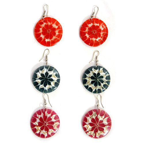 Set of 3 - Bali Collection LABA LABA Shell Hook Earrings in Stainless Steel 165.00 Ct.