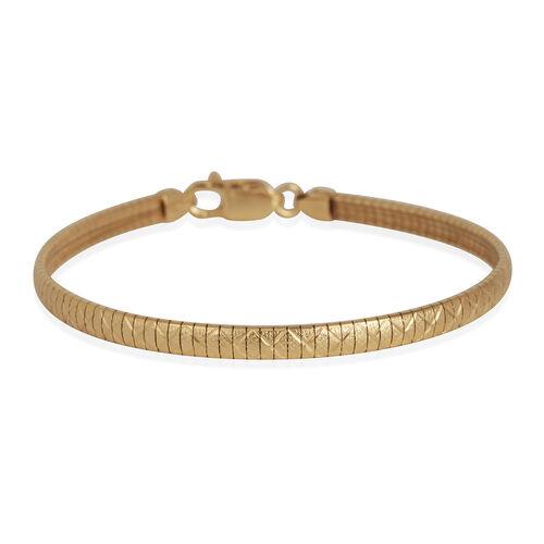 14K Gold Overlay Sterling Silver Bracelet (Size 7.5), Silver wt 9.00 Gms.