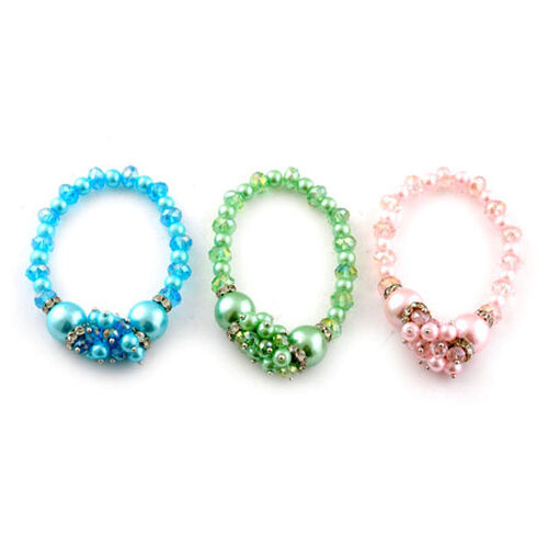 Spring Colour Glass Bracelet Set  0.030  Ct.