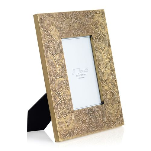 (Option 2) J Francis - Hand Crafted Embossed Leaf Pattern Wooden Photo Frame (Size 6x4 Inch)
