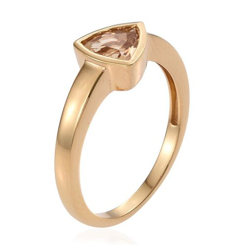 Marialite (Trl) Solitaire Ring in 14K Gold Overlay Sterling Silver 1.000 Ct.