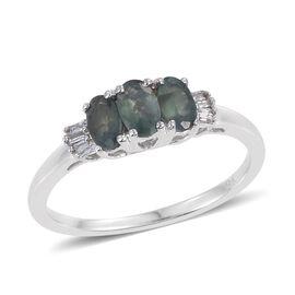 9K W Gold Narsipatnam Alexandrite (Ovl), Diamond Ring 0.850 Ct.