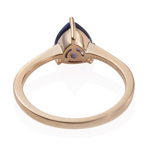 ILIANA 18K Y Gold AAA Tanzanite (Trl) Solitaire Ring 1.500 Ct.