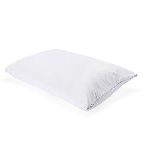 White Colour Reversible Memory Foam Jumbo Warm & Cool Pillow (Size 75x50 Cm)
