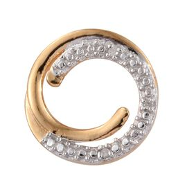 Diamond (Rnd) Circle of Life Pendant in 14K Gold Overlay Sterling Silver
