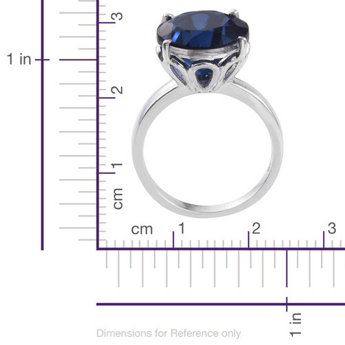Ceylon Colour Quartz (Rnd) Solitaire Ring in Platinum Overlay Sterling Silver 10.000 Ct.