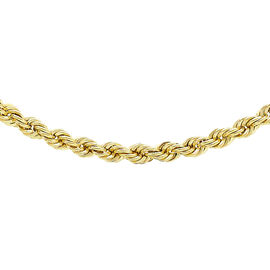 Close Out Deal 9K Y Gold Rope Necklace (Size 18), Gold wt 5.00 Gms.