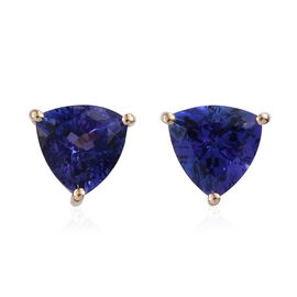 ILIANA 18K Y Gold AAA Tanzanite (Trl) Stud Earrings (with Screw Back) 3.000 Ct.