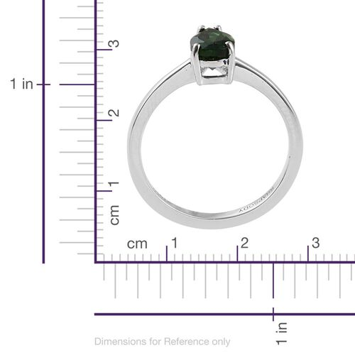 RHAPSODY 950 Platinum 1 Carat AAAA Chrome Tourmaline Pear Solitaire Ring