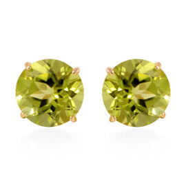 Tucson Collection 14K Y Gold Hebei Peridot (Rnd) Earrings (with Push Back) 2.500 Ct.