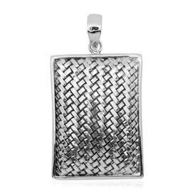 Royal Bali Collection Sterling Silver Weave Net Design Pendant, Silver wt 8.65 Gms.
