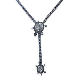 Multi Colour Austrian Crystal Necklace (Size 36) in Black Tone