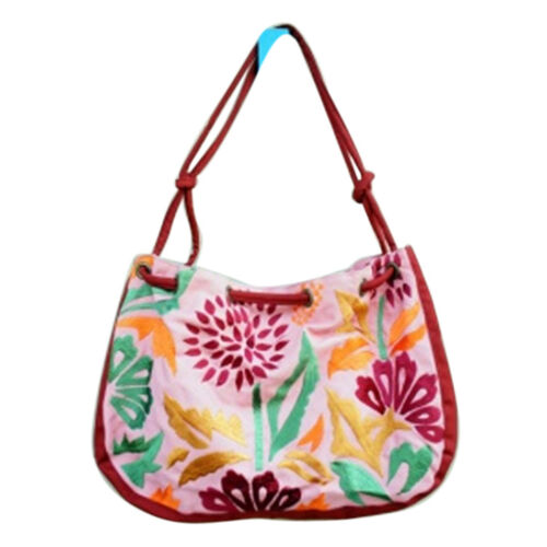 Bali Collection Floral Print Red Shoulder Bag