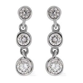 ILIANA 18K W Gold IGI Certified Diamond (Rnd) (SI/ G-H) Earrings (with Screw Back) 0.500 Ct.