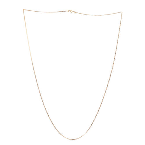 Close Out Deal 14K Gold Overlay Sterling Silver Mariner Necklace (Size 30), Silver wt 2.90 Gms.