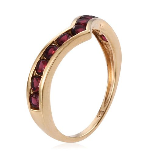 Mahenge Spinel (Rnd) Wishbone Ring in 14K Gold Overlay Sterling Silver 1.000 Ct.