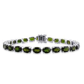 AAA Russian Diopside (Ovl) Bracelet (Size 7.5) in Sterling Silver 20.250 Ct.