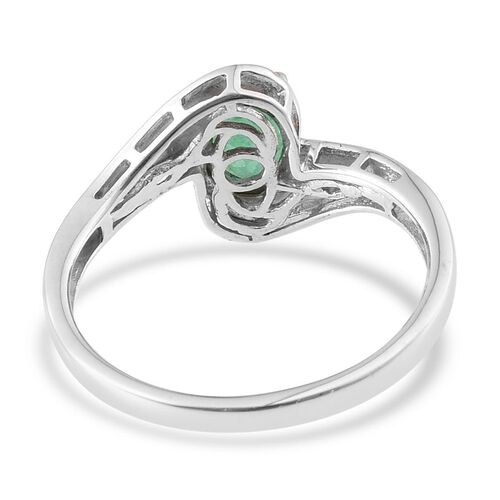 Kagem Zambian Emerald (Ovl) Solitaire Ring in Platinum Overlay Sterling Silver 1.250 Ct.