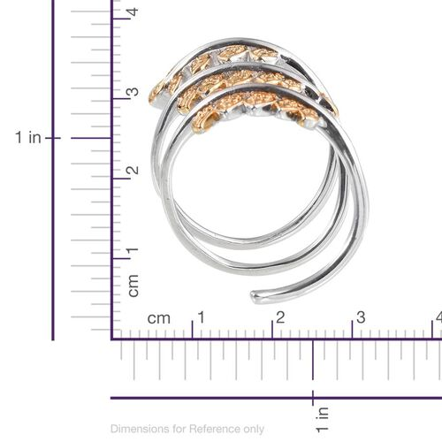 Yellow Diamond (Rnd) Spiral Ring in ION Plated Platinum Bond