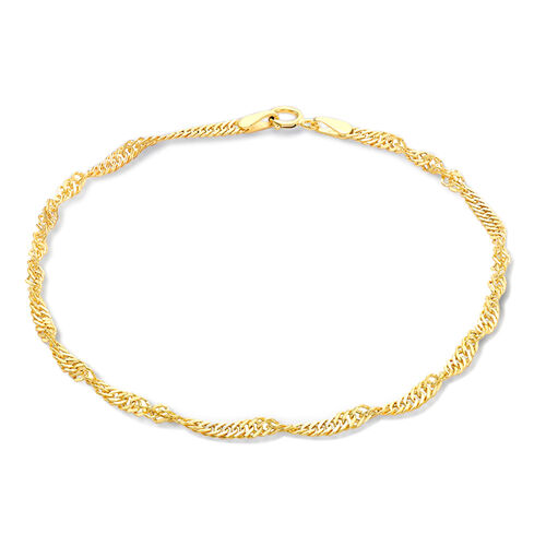 Close Out Deal 9K Y Gold Twist Curb Bracelet (Size 7.5)