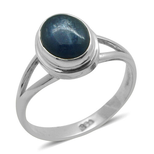 Royal Bali Collection Himalayan Kyanite (Ovl) Solitaire Ring in Sterling Silver 3.220 Ct.