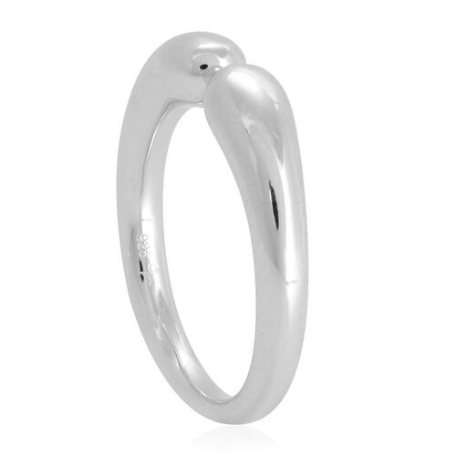LucyQ Double Drip Ring in Rhodium Plated Sterling Silver 5.22 Gms.