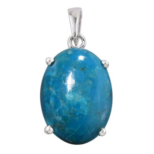 Natural Rare Opalina (Ovl) Pendant in Platinum Overlay Sterling Silver 13.750 Ct.
