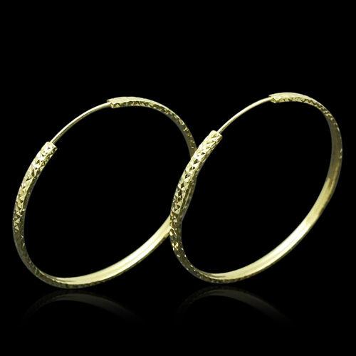 Royal Bali Collection 9K Y Gold Hoop Earrings